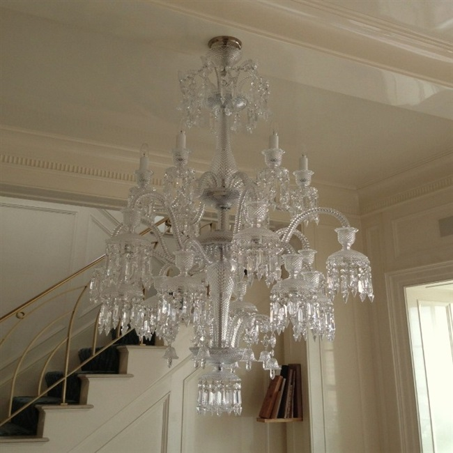 Chandelier installations long island nyc hamptons londono baccarat chandelier over dinning room table west village nyc aloadofball Gallery
