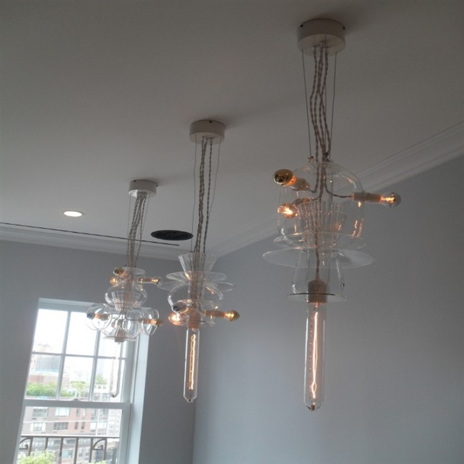 Very Unique Fixtures Installed Over A Kitchen Table In West Village Nyc