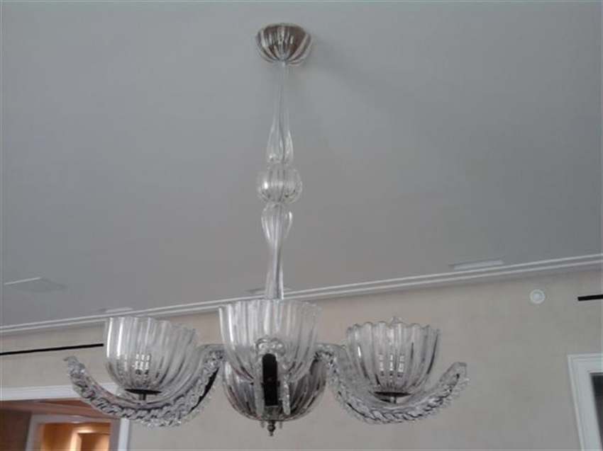 Chandelier installations long island nyc hamptons londono glass chandelier installed flush over dinning room table on low ceiling apt upper west side nyc aloadofball Gallery