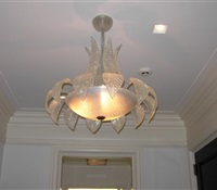 Murano Chandelier installed in Sutton Place, New York, NY