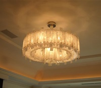 Rock Cristal Chandelier installed in Brooklyn. NY.
