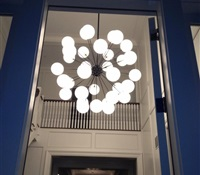 Installed in the Hamptons on a 22' ceiling.