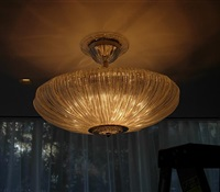 "36"" diameter fixture Installed on Living. Long island."