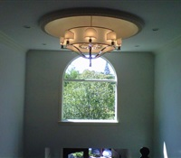 Chandelier installed on a foyer in Great Neck, NY.